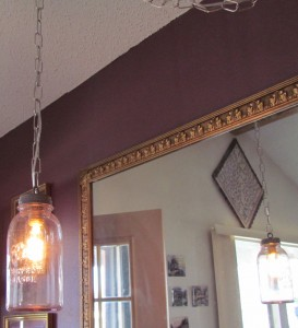 Mason Jar Lamp mirrored