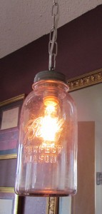 Mason Jar hanging lamp